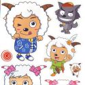 radiant lamb stickers (JDC489)